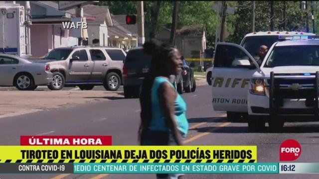 dos policias resultan heridos tras tiroteo en luisiana