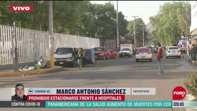 el gobierno de la cdmx prohibe estacionarse frente a hospitales