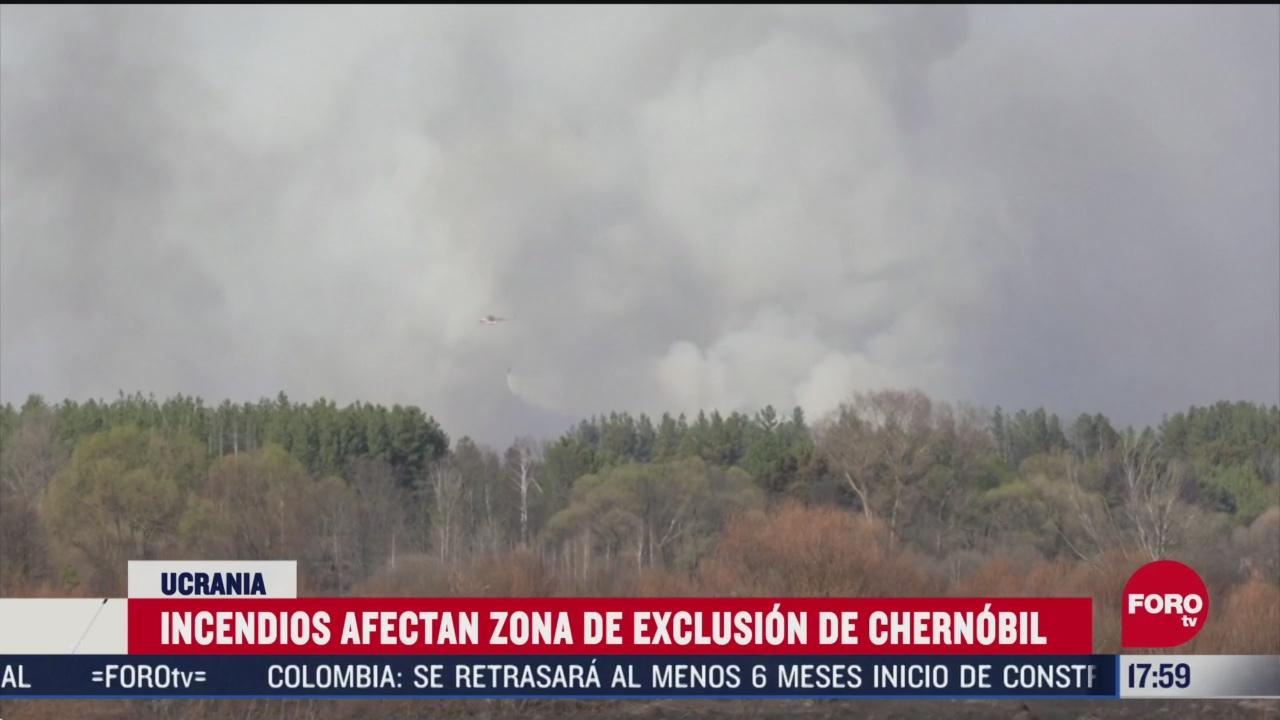FOTO: emergencia por incendios cerca de zona de exclusion de chernobyl