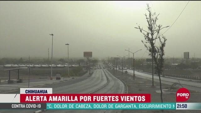 FOTO:11 de abril 2020, emiten alerta amarilla en chihuahua por fuertes vientos causados por el frente frio