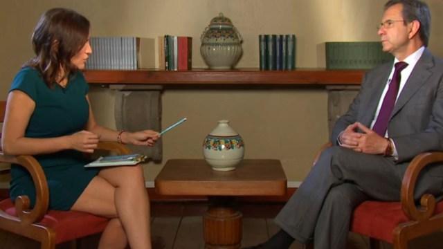 El secretario de Educación Pública, Esteban Moctezuma Barragán, en entrevista para el noticiero Despierta. (Foto: Noticieros Televisa)