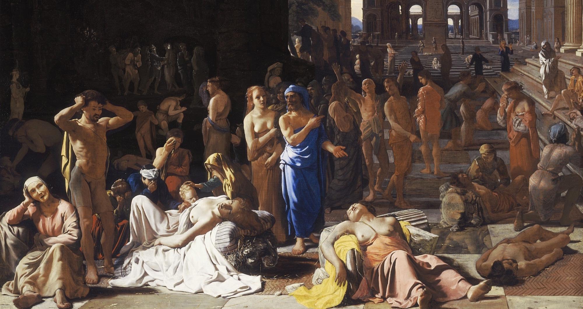 Plaga Atenas Epidemia Antiguedad, Ilustración