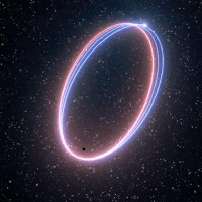Video inédito: el movimiento de una estrella cerca de un agujero negro que predijo Einstein