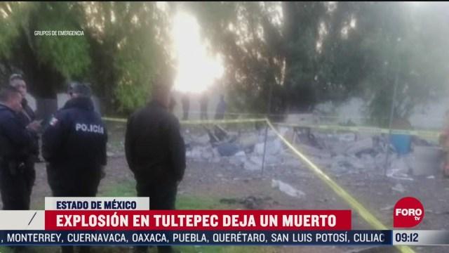 FOTO:18 de abril 2020, explosion de polvorin en tultepec estado de mexico deja un muerto