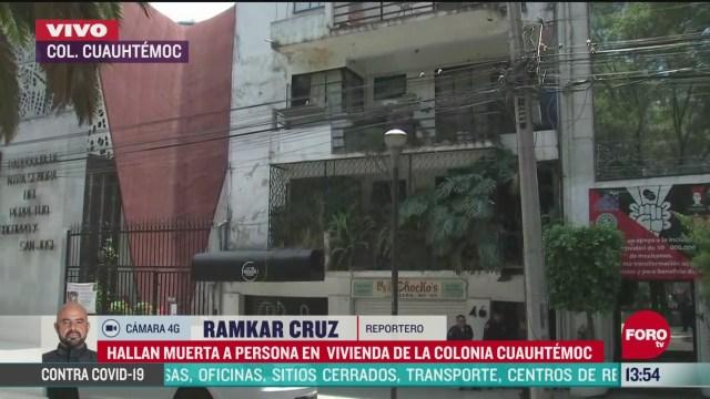 FOTO: hallan muerta a una mujer en la colonia cuauhtemoc en la cdmx