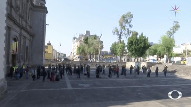 Coronavirus: Iglesia CDMX da alimento a personas de calle