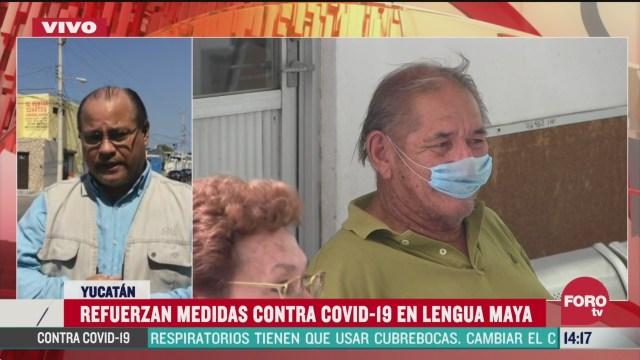 FOTO: informan medidas contra el coronavirus en lengua maya