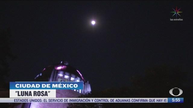 luna rosa se aprecia en la cdmx