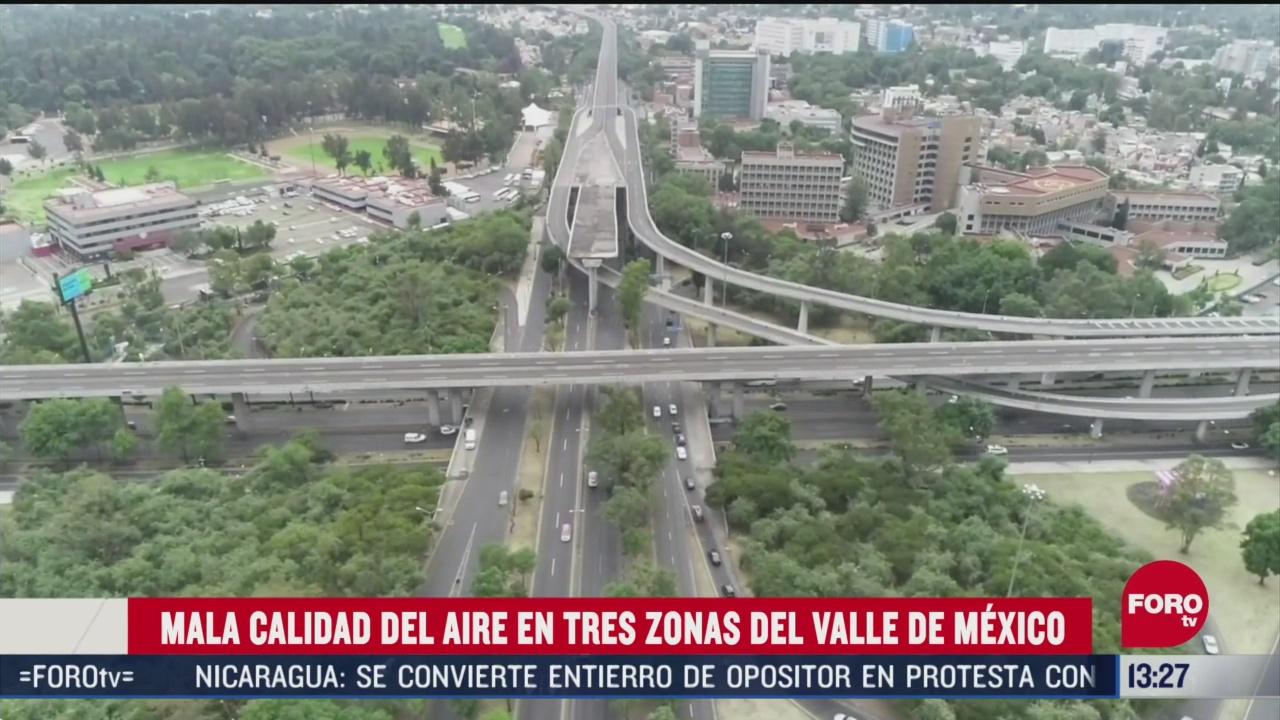 FOTO: 25 de abril 2020, mala calidad del aire en tres puntos del valle de mexico