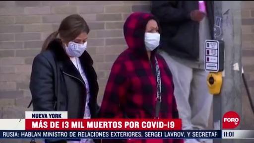 FOTO:18 de abril 2020, mas de 13 mil muertos por coronavirus en nueva york