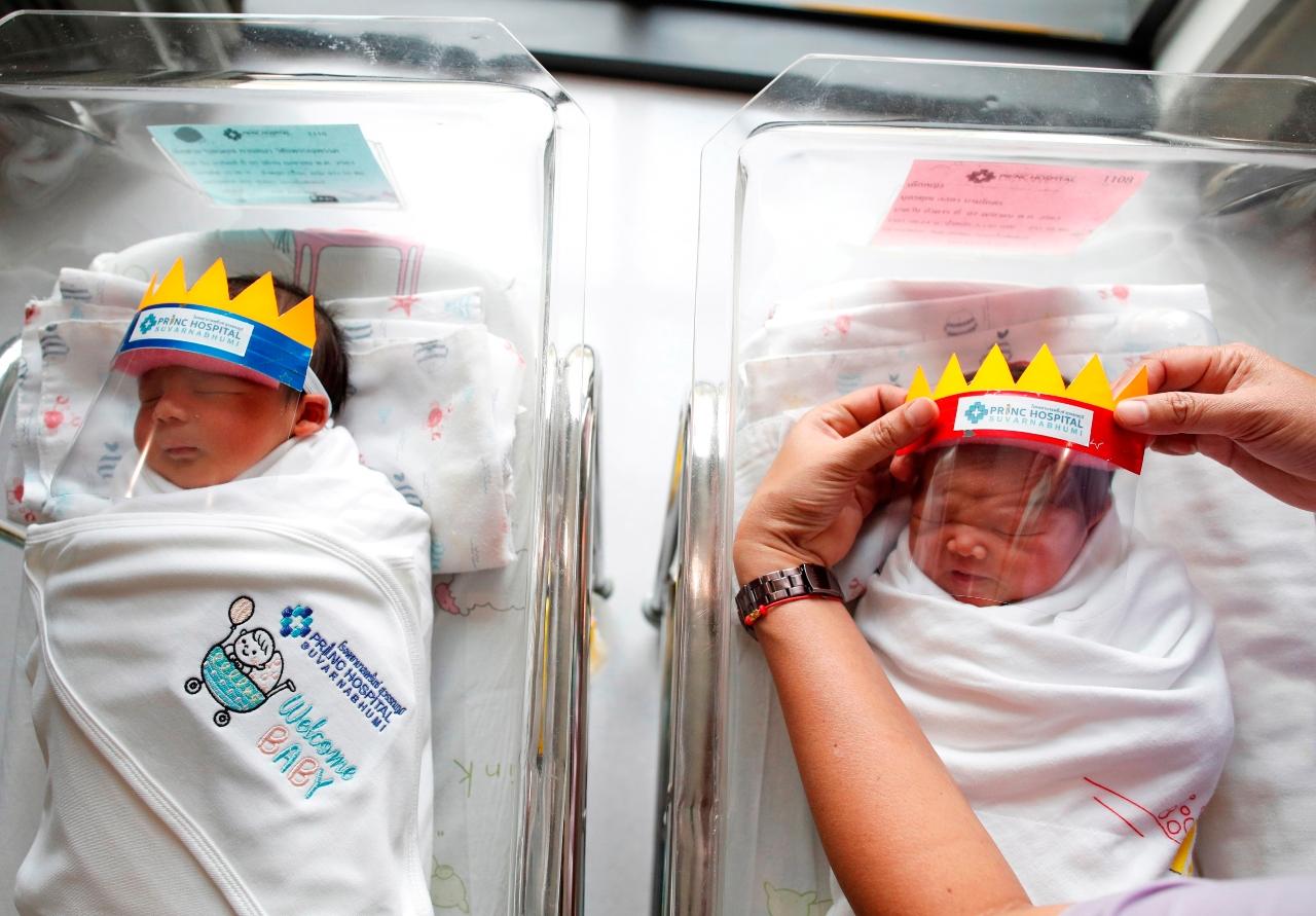 Coronavirus-Coronavirus-Bebes-Mascarillas-Recien-Nacidos-Recien-Nacido-Tailandia-Caretas-Medicas-Proteccion, Ciudad de México, 9 de abril 2020