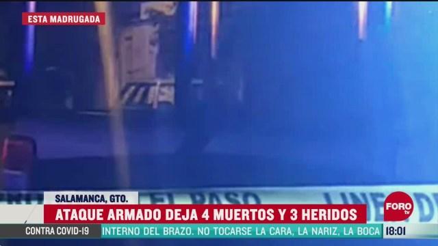 FOTO: matan a cuatro personas durante ataque en salamanca guanajuato