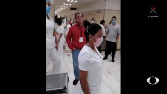 Coronavirus: Médicos de IMSS en Puebla protestan por insumos