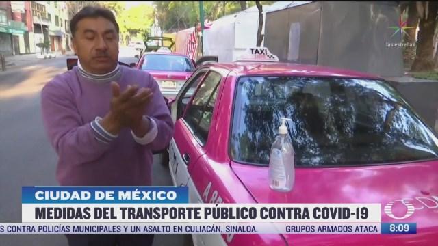 medios de transporte publico cuentan con medidas preventivas ante coronavirus