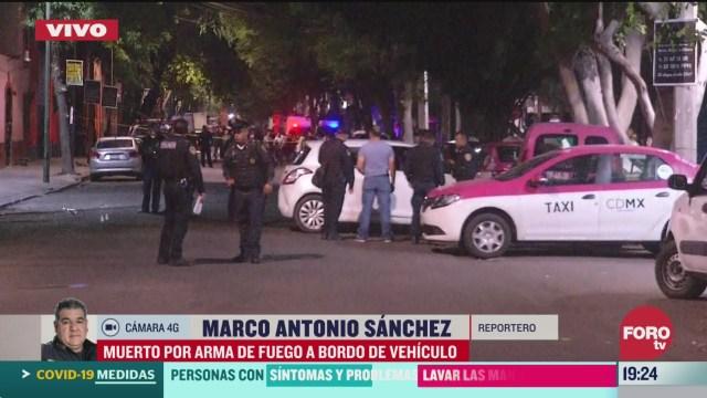 Foto: Muere Hombre Baleado Santa María La Ribera Cdmx Hoy 3 Abril 3030