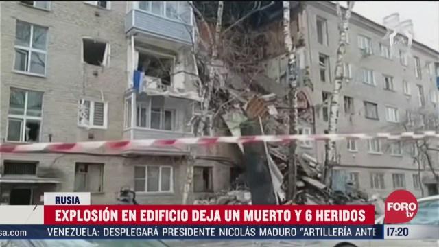 FOTO: 4 de abril 2020, muere una persona tras explosion por acumulacion de gas en rusia