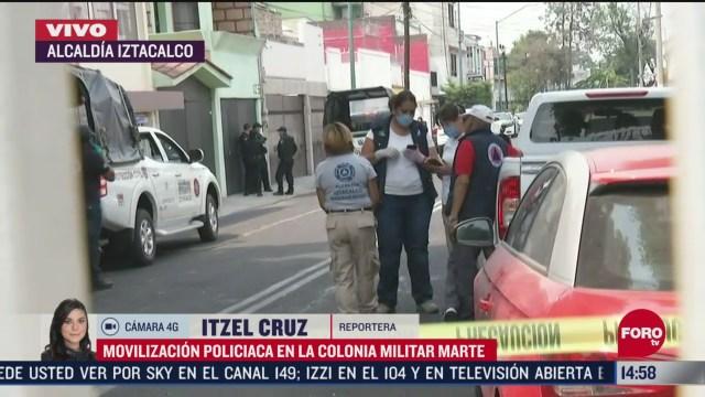 FOTO: policia de cdmx realiza movilizacion por reporte de mal olor en iztacalco