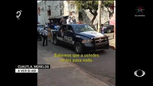 Foto: Policía Morelos Llama Extraterrestres Ciudadanos En Calles 8 Abril 2020