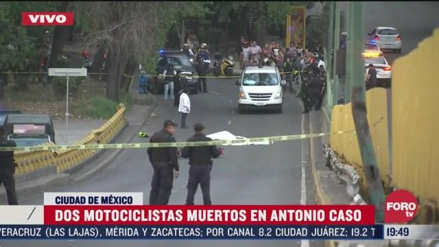 FOTO: 5 de abril 2020, Mueren dos motociclistas en accidente en puente de Marina Nacional
