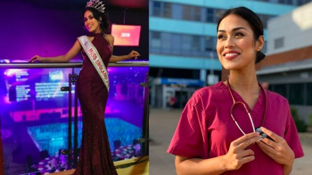 Foto Reina de belleza retoma su profesión como doctora para luchar contra coronavirus 8 abril 2020