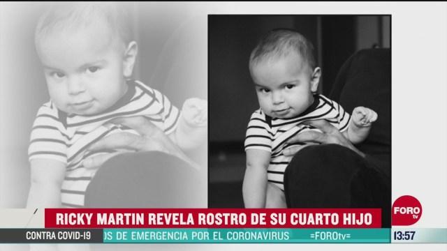 FOTO: ricky martin revela el rostro de su cuarto hijo