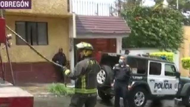 Se registra incendio tras explosión en la colonia Olivar del Conde; hay 5 lesionados, 24 de abril de 2020, (FOROtv)