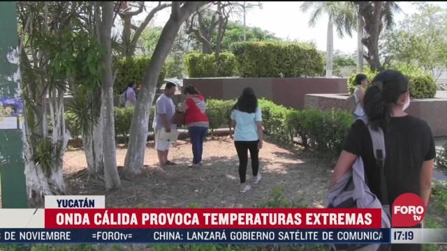 FOTO: 4 de abril 2020, se registran temperaturas superiores a los 40 grados en municipios de yucatan