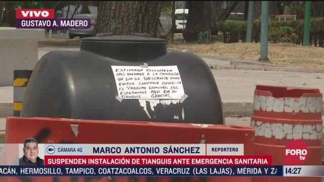 FOTO: 5 de abril 2020, suspenden instalacion de tianguis ante emergencia sanitaria en la gustavo a madero