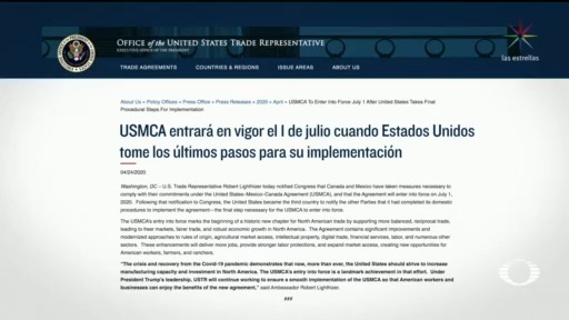 Foto: T-Mec Entrará En Vigor El 1 De Julio 24 Abril 2020