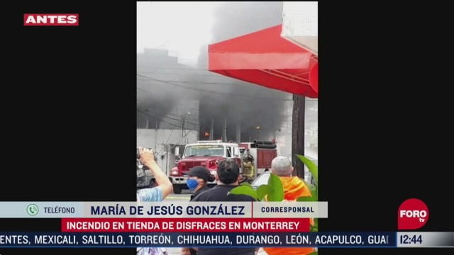 tienda de disfraces se quema en monterrey nl