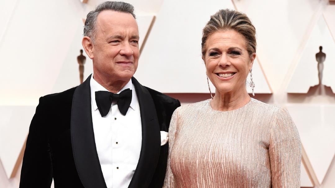 Fotografía que muestra a los actores Tom Hanks y su esposa Rita, ambos contagiados con coronavirus, 5 abril 2020