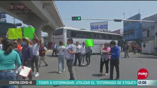 transportistas se manifiestan en ecatepec edomex