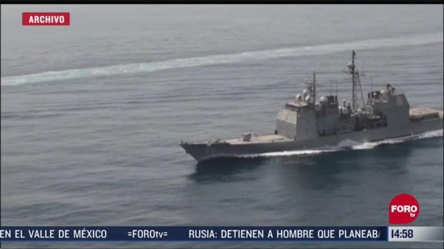 FOTO: trump ordena destruir barcos iranies que acosen a buques estadounidenses