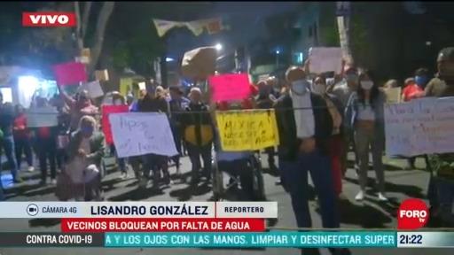 Foto: vecinos de xochimilco realizan bloqueo por falta de agua 20 Abril 2020