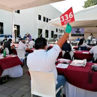 Realizan tercer subasta del 2020 en Los Pinos