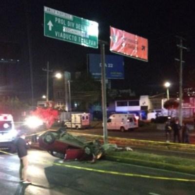 Dos accidentes automovilísticos dejan tres personas muertas en CDMX