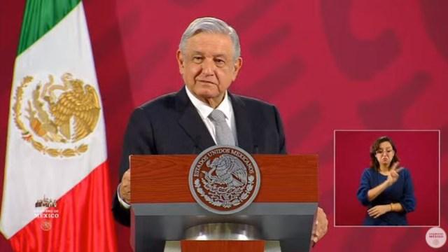Andrés Manuel López Obrador, presidente de México, durante la conferencia matutina en el Palacio Nacional. (Foto: Redes sociales AMLO)