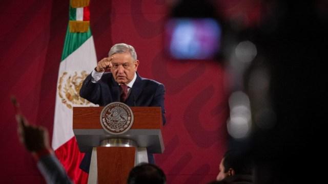 Andrés Manuel López Obrador, presidente de México, en su conferencia matutina en el Palacio Nacional. (Foto: Cuartoscuro)