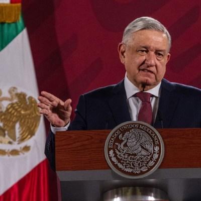 Andrés Manuel López Obrador, presidente de México, durante la conferencia matutina en el Palacio Nacional. (Foto: Cuartoscuro)