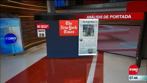 analisis de las portadas nacionales e internacionales del 28 de mayo del