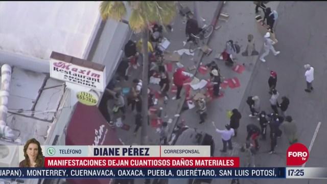 FOTO: 31 de mayo 2020, anarquistas causan cuantiosos danos materiales durante protestas en california