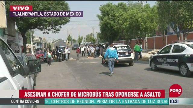 asesinan a chofer de microbus tras oponerse a asalto en edomex