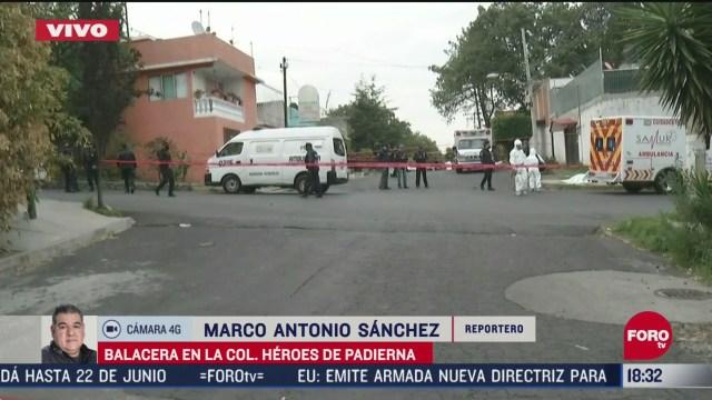 FOTO: balacera en colonia heroes de padierna cdmx deja tres muertos