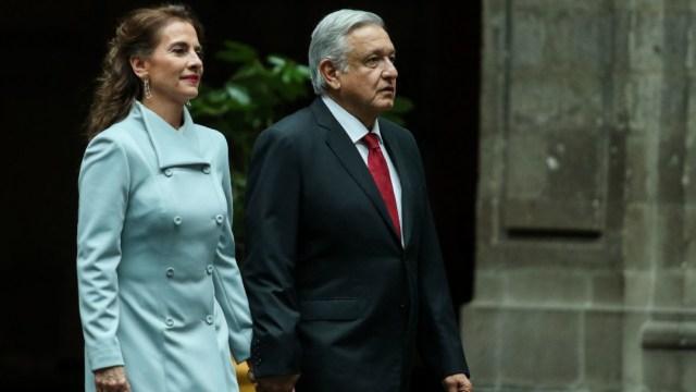 La escritora Beatriz Gutiérrez Müller, y Andrés Manuel López Obrador, presidente de México. (Foto: Cuartoscuro/archivo)