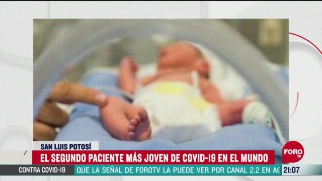 bebe potosino es la segunda persona mas joven del mundo contagiada con covid