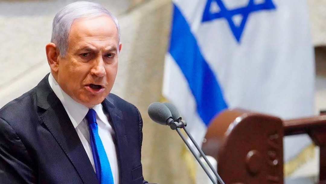 El primer ministro israelí Benjamin Netanyahu durante la ceremonia de juramentación en la ceremonia de su nuevo gobierno. (Foto: EFE)