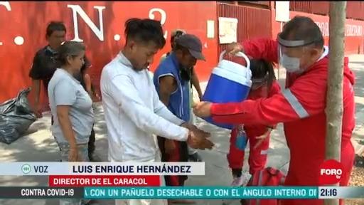 brigada caracol apoya a poblacion en situacion de calle contra covid