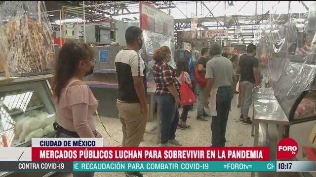 FOTO: caen ventas en mercados publicos de cdmx por coronavirus