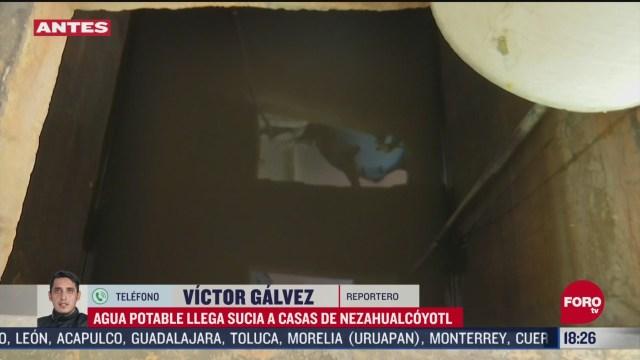 FOTO: 3 de mayo 2020, casas de nezahualcoyotl denuncian agua en mal estado