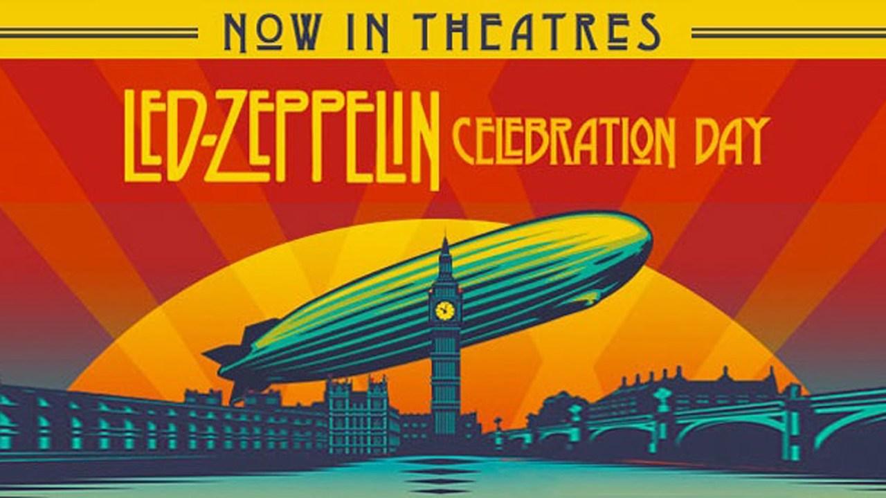 Banner del concierto Celebration Day de Led Zeppelin que será transmitido gratuito por Youtube.